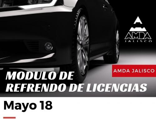 REFRENDO DE LICENCIAS 18 DE MAYO 2021