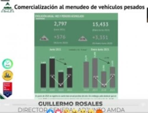 Avanzó 27.7% venta al menudeo de vehículos pesados al primer semestre de 2021